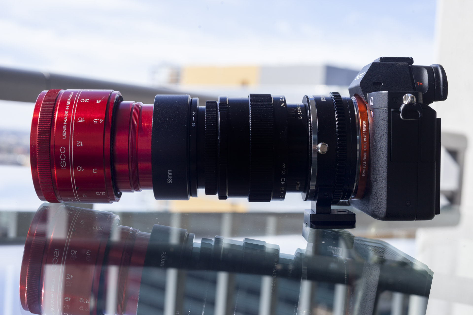 Sony A7s Full Frame Anamorphic Lens Adapter Shooting