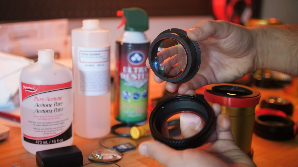 Cleaning A Single Focus Anamorphic Lens Attachment